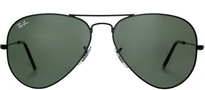 Ray-Ban RB 3025 L2823 Aviator Metal Black Sunglasses with Crystal Green Lens