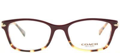 Coach HC 6065 5437 Rectangle Plastic Burgundy/ Red Eyeglasses with Demo Lens