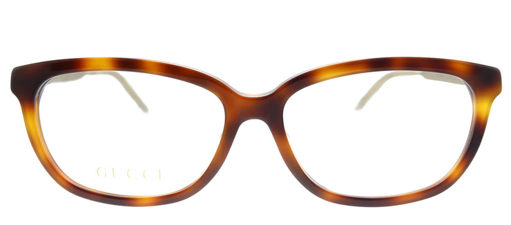 Gucci GG 0568OA 002 Cat-Eye Plastic Tortoise/ Havana Eyeglasses with Demo Lens