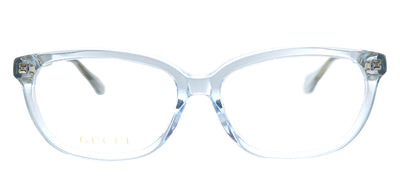Gucci GG 0568OA 003 Cat-Eye Plastic Blue Eyeglasses with Demo Lens