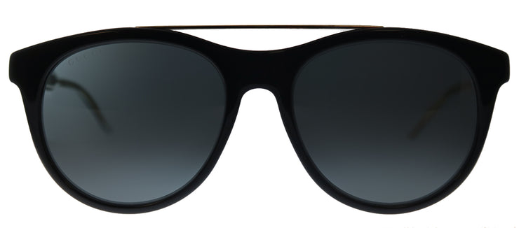 Gucci GG 0559S 001 Round Plastic Black Sunglasses with Grey Lens
