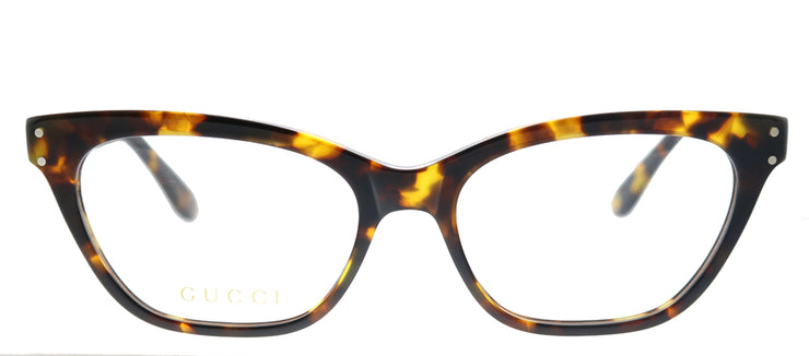 Gucci GG 0570O 006 Cat-Eye Plastic Tortoise/ Havana Eyeglasses with Demo Lens
