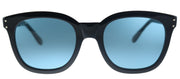 Gucci GG 0571S 004 Square Plastic Black Sunglasses with Blue Lens