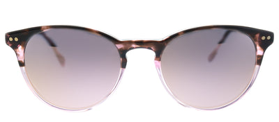 Lilly Pulitzer LP Palermo PK Round Plastic Pink Sunglasses with Pink Mirror Lens