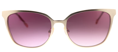 Lilly Pulitzer LP Sheba YG Square Metal Gold Sunglasses with Brown Gradient Lens