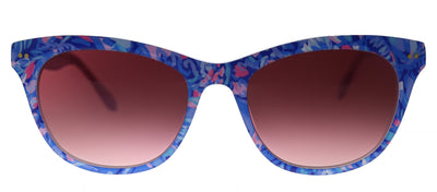 Lilly Pulitzer LP Miraval MU Rectangle Plastic Blue Sunglasses with Rose Gradient Lens