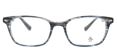 Original Penguin PE Clyde BL Rectangle Plastic Blue Eyeglasses with Demo Lens