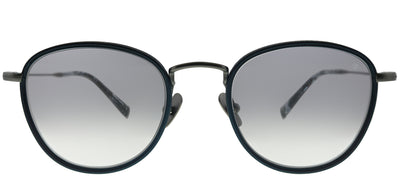 John Varvatos JV V531 NGU Round Plastic Blue Sunglasses with Grey Gradient Lens