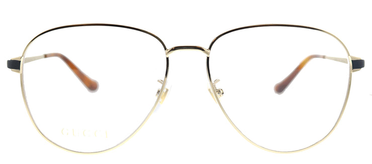 Gucci GG 0577OA 001 Aviator Metal Gold Eyeglasses with Demo Lens