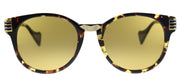 Gucci GG 0586S 003 Round Plastic Tortoise/ Havana Sunglasses with Yellow Lens