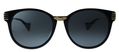 Gucci GG 0586SA 001 Round Plastic Black Sunglasses with Grey Lens