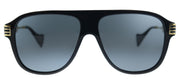 Gucci GG 0587S 001 Aviator Plastic Black Sunglasses with Grey Lens