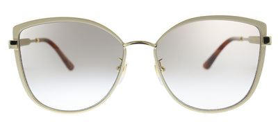 Gucci GG 0589SK 003 Cat-Eye Metal Ivory/ White Sunglasses with Grey Gradient Lens