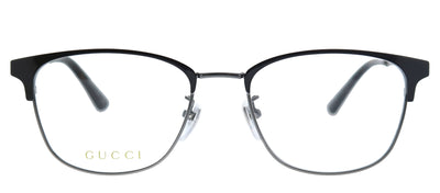 Gucci GG 0609OK 003 Square Metal Burgundy/ Red Eyeglasses with Demo Lens