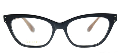 Gucci GG 0570O 007 Cat-Eye Plastic Brown Eyeglasses with Demo Lens