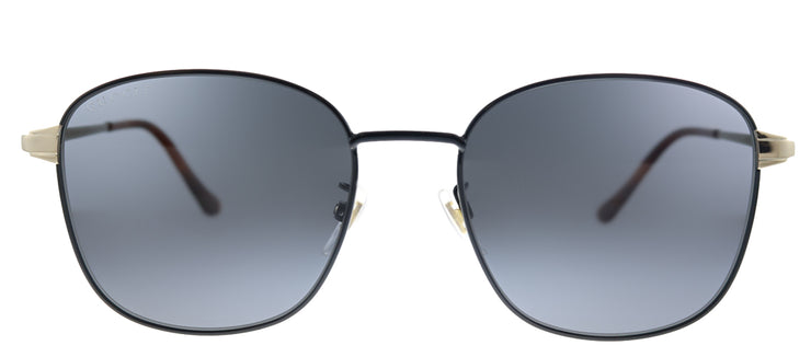 Gucci GG 0575SK 002 Square Metal Black Sunglasses with Grey Polarized Lens