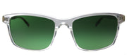 Original Penguin PE Jack SUN CR Rectangle Plastic Clear Sunglasses with Green Polarized Lens