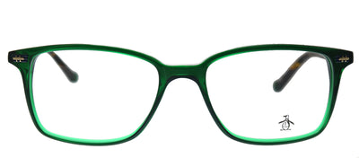Original Penguin PE Leopold GN Rectangle Plastic Green Eyeglasses with Demo Lens