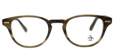 Original Penguin PE Murphy CG Round Plastic Green Eyeglasses with Demo Lens