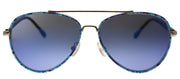 Lilly Pulitzer LP Danica BL Aviator Metal Blue Sunglasses with Blue Mirror Lens
