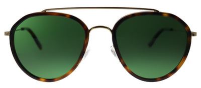 Original Penguin PE Shady TO Aviator Plastic Tortoise/ Havana Sunglasses with Green Polarized Lens