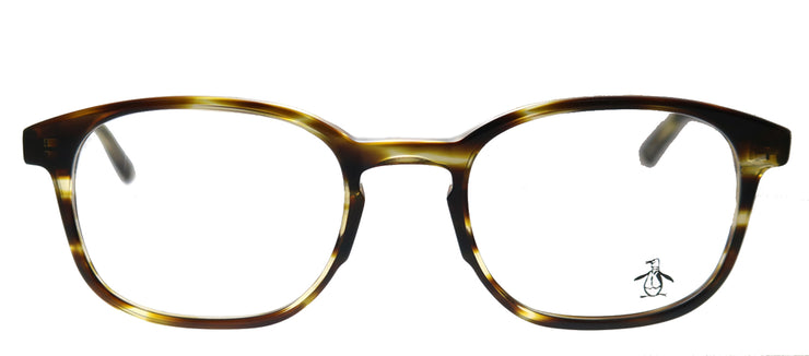 Original Penguin PE Stewart TO Rectangle Plastic Tortoise/ Havana Eyeglasses with Demo Lens