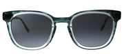 Original Penguin PE Suspender DN Square Plastic Blue Sunglasses with Black Polarized Lens