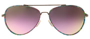 Lilly Pulitzer LP Danica PK Aviator Metal Pink Sunglasses with Pink Mirror Lens