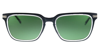 Original Penguin PE Suspender2.0 BK Square Plastic Black Sunglasses with Green Polarized Lens