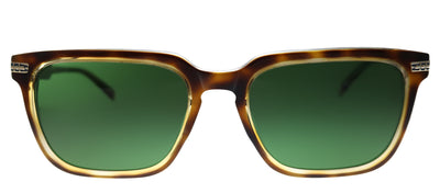 Original Penguin PE Suspender2.0 TO Square Plastic Tortoise/ Havana Sunglasses with Green Polarized Lens