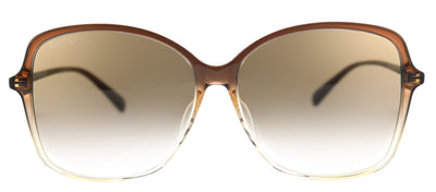 Gucci GG 0546SK 003 Square Plastic Brown Sunglasses with Brown Gradient Lens