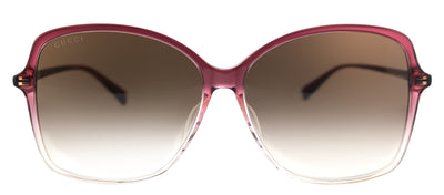 Gucci GG 0546SK 004 Square Plastic Burgundy/ Red Sunglasses with Brown Gradient Lens