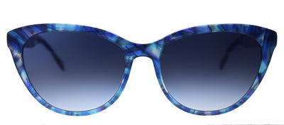 Lilly Pulitzer LP Havana BL Cat-Eye Plastic Blue Sunglasses with Blue Gradient Lens