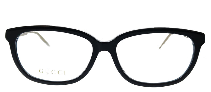 Gucci GG 0568OA 001 Cat-Eye Plastic Black Eyeglasses with Demo Lens