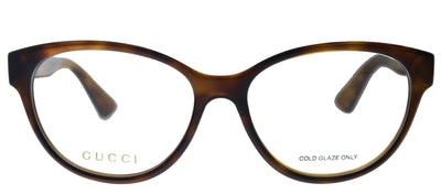 Gucci GG 0633O 002 Cat-Eye Plastic Havana Eyeglasses with Demo Lens