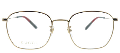 Gucci GG 0681O 001 Square Metal Gold Eyeglasses with Demo Lens