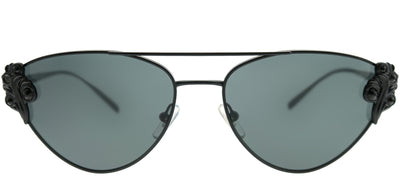 Versace VE 2195B 100987 Cat-Eye Metal Black Sunglasses with Grey Lens