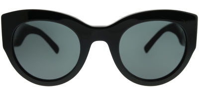 Versace VE 4353 GB1/87 Cat-Eye Plastic Black Sunglasses with Grey Lens