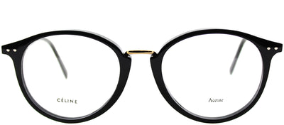 Celine CL 41406 807 Round Plastic Black Eyeglasses with Demo Lens