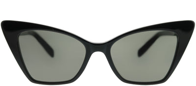 Saint Laurent SL 244Victoire 001 Cat-Eye Plastic Black Sunglasses with Grey Lens