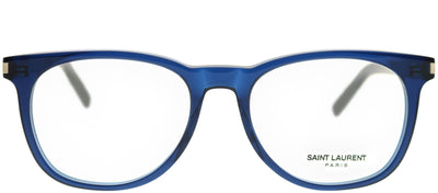 Saint Laurent SL 225 004 Square Plastic Blue Eyeglasses with Demo Lens