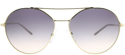 Prada PR 56US ZVNNJ0 Round Metal Gold Sunglasses with Dark Violet Gradient Lens