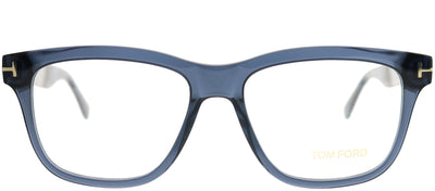 Tom Ford FT 5372 090 Rectangle Metal Blue Eyeglasses with Demo Lens