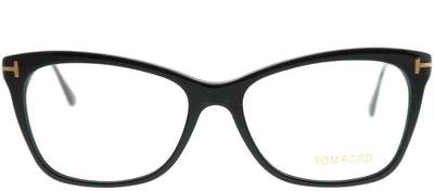 Tom Ford FT 5353 001 Rectangle Plastic Black Eyeglasses with Demo Lens