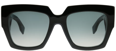 Fendi FF 0263 807 Square Plastic Black Sunglasses with Dark Grey Gradient Lens