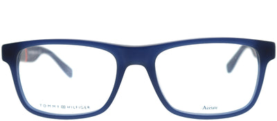 Tommy Hilfiger TH 1282 6Z1 Rectangle Plastic Blue Eyeglasses with Demo Lens