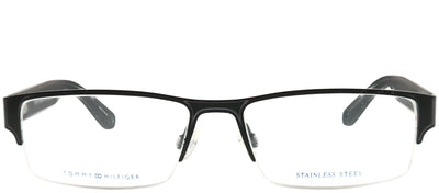 Tommy Hilfiger TH 1236 94X Semi-Rimless Metal Black Eyeglasses with Demo Lens