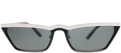 Prada PR 19US YC45S0 Cat-Eye Plastic Black Sunglasses with Grey Lens