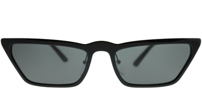 Prada PR 19US 1AB5S0 Cat-Eye Plastic Black Sunglasses with Grey Lens