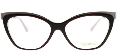 Tom Ford FT 5374 050 Cat-Eye Metal Brown Eyeglasses with Demo Lens